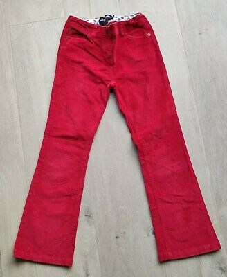 Mini Boden Girls Cord Trousers Age 9 years Red