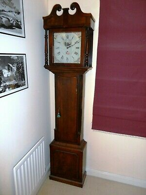 Long Case Grandfather Clock by Joshua Stancliffe of Woodhead, 30 hour movement