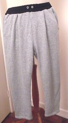 Zara Girls 11-12 Years Lounge Relaxed Fit Trousers Elasticated Waist Grey Black