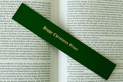 Personalised Leather Bookmarks Gift/Keepsake for all occasions