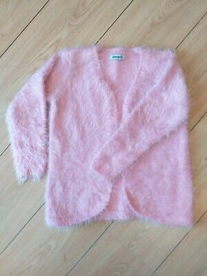 Girls Pink Supersoft Fluffy Cardigan - Age 2-3 Years