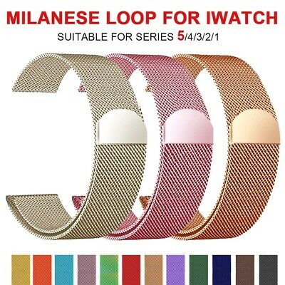 Milanese Loop Magnetic Band Strap For Apple Watch Series 5/4/3/2 38/40 42/44mm