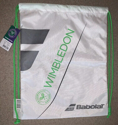 NWT NEW! OFFICIAL WIMBLEDON TENNIS Drawstring Gym Bag - Duffel Backpack BABOLAT
