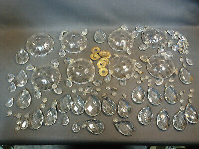 Set Of Pampilles Glass Parts For Chandelier Crystal Wall Lamp