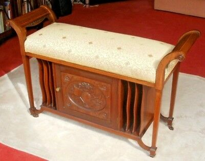 Late Victorian/Edwardian Duet Stool - Excellent Condition