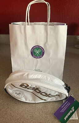 NWT  OFFICIAL WIMBLEDON TENNIS School Supply GIFT Cosmetic Bag Racquet BABOLAT