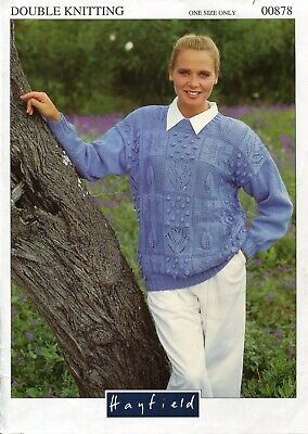 "431 Ladies DK Cable Sweater 30-40/"" 76-102cm onesize Vintage Knitting Pattern"
