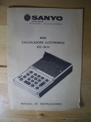 Manual instrucciones Calculadora SANYO ICC-82.d pocket calculator ICC 82 D