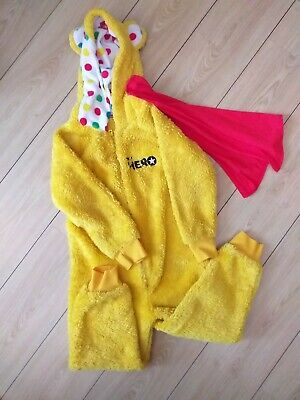 Childs Pudsey 'Be a Hero'  All In One with a detachable red cape - Size 4-5