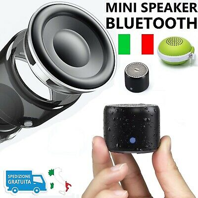 Mini Altoparlante Bluetooth Portatile, Cassa Speaker Impermeabile Bassi Potenti