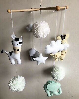 Woodland baby mobile, forest animals nursery mobile-made to order