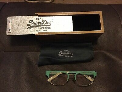 Superdry Glasses Clarke With Wooden Box Case
