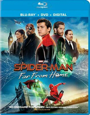 Spider-Man: Far from Home (Blu Ray+DVD+DIGITAL), 2019 w/ SLIP COVER! NEW!!!