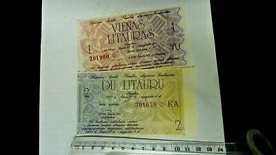 2 Lithuanian Bank Notes Issued 1991 -  Unused