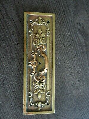 A Lovely Antique Heavy Decorative Solid Brass/Copper Door Finger Plate