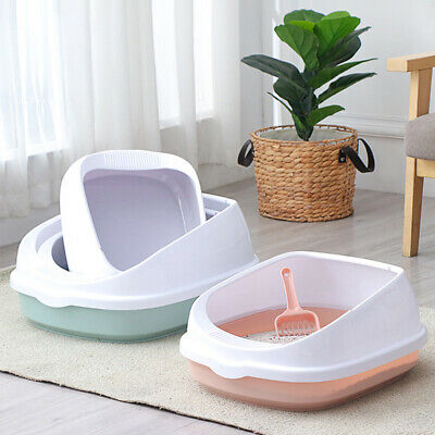 Pet Toilet Bedpan Anti Splash Cats Litter Box Cat Dog Tray with Scoop Kitten