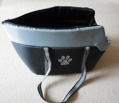 Dog Carrier Bag, Black and Grey, Cushioned, Classic Cut