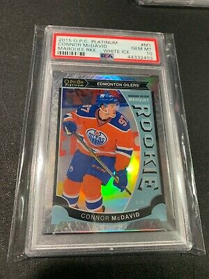 Connor Mcdavid Psa 10 2015 O.p.c. Platinum Marquee Rookie White Ice #M1 /199