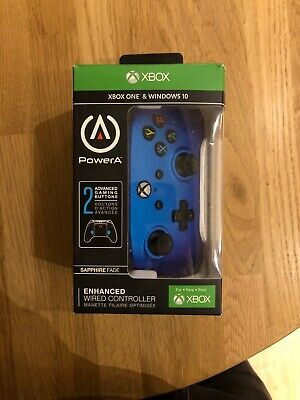 PowerA 1506684-01 Enhanced Wired Controller for Xbox One - Sapphire Fade