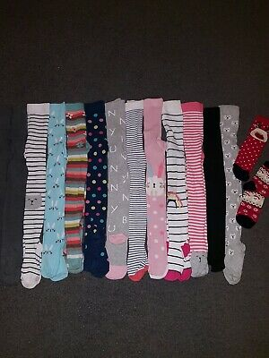 Girls Bundle Of Tights Age 5-6 Years. (13 In Total)