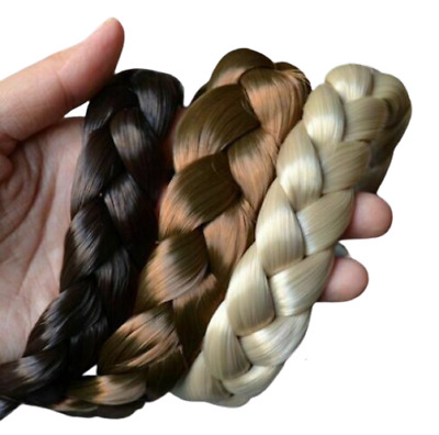 Fashion Headband Hair Wigs Bohemian Braid Thick Wide Women Hairs Accessories