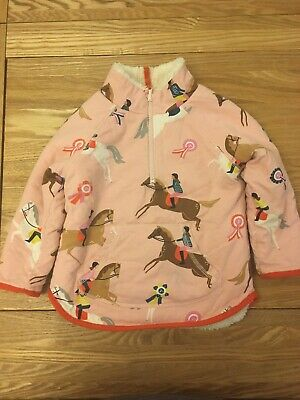 Mini Boden Girl Age 3 To 4 Zip Up Reversible Horse Jumper