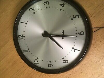 Vintage Large Gents Reliance GEC Bakelite Office Wall Pulsynetic Slave Clock