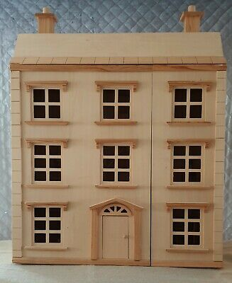 Wooden Dolls House With Furniture very good condition