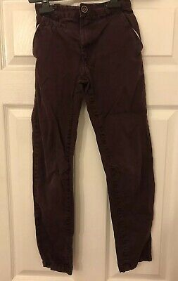 George Girls Aged 8-9 Years Bergundy Trousers With Pockets
