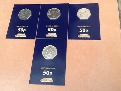 Change Checker Isle Of Man 2019 Icc World Cup Cricket - 4 Different 50P Coins