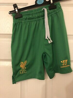 WARRIOR LIVERPOOL Green  GOALKEEPER HOME SHORTS KIDS AUTHENTIC Aged 7-8 Years