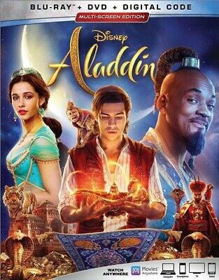 Aladdin (2019) (Blu-ray/DVD, Disney, Live Action, Will Smith) **NEW RELEASE**