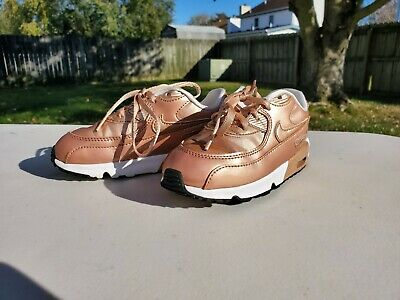 NIKE AIR MAX 90 Special Edition Rose Gold Pink Toddler 10c