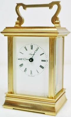 Vintage French 8 Day Classic Brass Timepiece Carriage Clock Platform Escapement