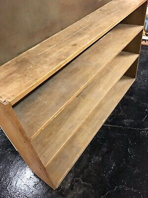Antique Pine bookcase shelves Stripped Pine Rustic Pine Victorian Pine Large