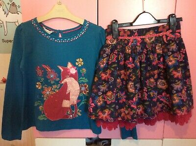 Girls Monsoon Outfit Skirt And Top bnwt Outfit age 9-10