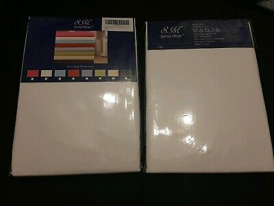2 ×Microfibre Fitted Sheet By Sonia Moer King Size White