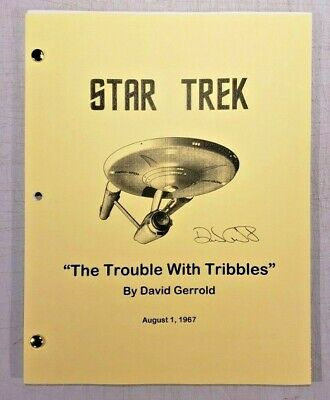 "Star Trek - TOS The Original Series ""The Trouble With Tribbles"" Shooting Script"