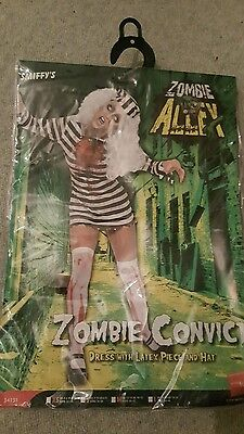 Smiffys ladies zombie convict/prisoner halloween costume S 8-10