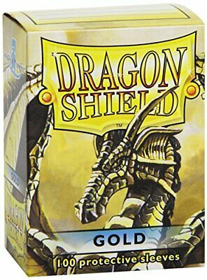 Dragon Shield Sleeves - GOLD - Standard Size Deck Protectors 100 ct [Toy]