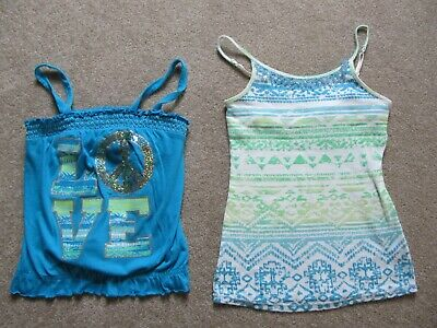 Justice Girls Sparkle Size 10 Camis (4) and Arizona Size 10 Cami (1)  Total: 5