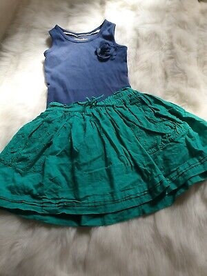 girls 2-3 year outfit floral vest top green skirt summer beach bundle next day