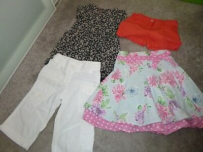 next girls summer clothes age 4 skirt/trousers/top/shorts
