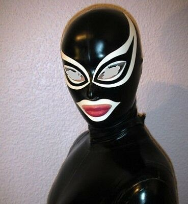 3031 Latex Rubber Gummi Masks Hood customized catsuit cosplay costume suit 0.4mm