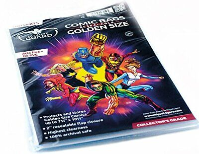 Ultimate Guard UGD20001 Comic Bags Resalable Card Game, Gold