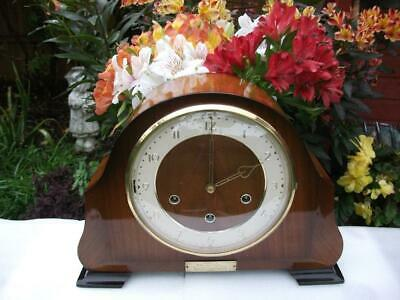 Smiths Westminster Chime Mantel Clock. Masonic Interest. 1959. Fully Overhauled.