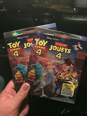 TOY STORY 4 BLU-RAY +DVD+ DIGITAL+SLIPCOVER - Brand New & Sealed- Fast Shipping!