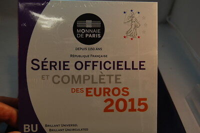 Francia Officiale Set Monete 1 Cent fino 2 Fior di Conio (3)