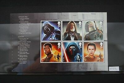 GB 2015 Star Wars Booklet Panes SG3758b & SG3759b ex PSB DY15