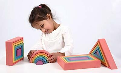 TickiT 73420 Rainbow Architect Set, Wooden Arch, Square, Rectangle  Triangles B